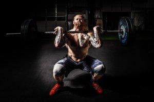 Schneller Muskelaufbau Mann